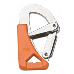 Moschettone con doppia sicurezza per cinture di sicurezza