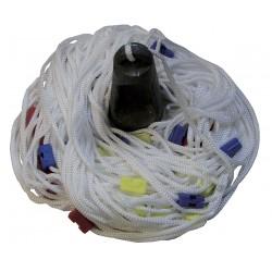 Scandaglio a mano - treccia nylon mt.30 con cambio colore