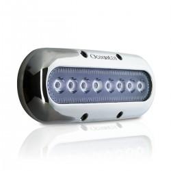 OceanLed Luce subacquea a 8 LED - Cornice acciaio inox