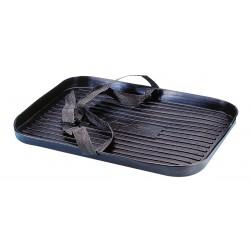 Vaschetta portaserbatoio o portabatteria completa di cinghia per fissaggio