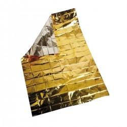 Coperta isotermica argento e oro 160 x 210