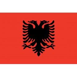 Bandiera Albania stamina di poliestere 100%