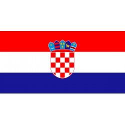 Bandiera Croazia in tessuto stamina di poliestere 100%