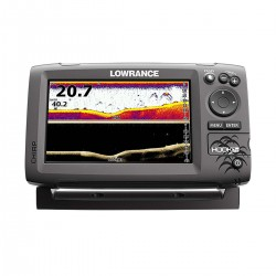Fishfinder Lawrence Hook-7x con trasduttore Mid/High/DownScan