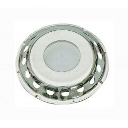Aeratore in acciaio inox con calotta trasparente in plastica
