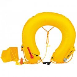 Salvagente gonfiabile a ferro di cavallo da lancio per il recupero di un uomo a mare