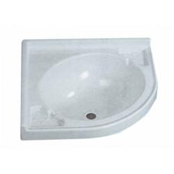 Lavello ad angolo in PVC bianco