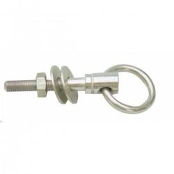 Golfare con anello acciaio inox AISI 316 completo di dado e rondelle