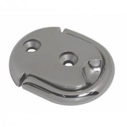 Piastra ovale in acciaio inox AISI 316