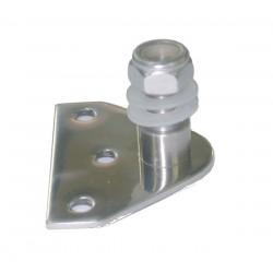 Supporto in acciaio inox con dado autobloccante per molle a gas