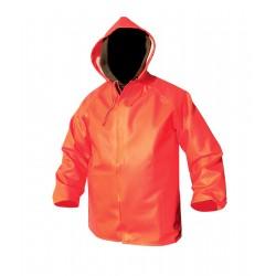 Giacca cerata arancione in PVC pesante