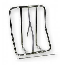 Sella porta zattera verticale regolabile in acciaio inox