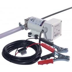 Pompa con ingranaggi per cambio olio e travaso gasolio con pannello di controllo